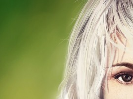 Art Girl Freckles Blonde hd Wallpaper