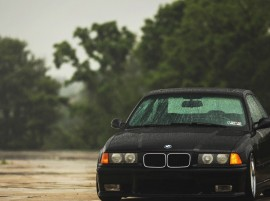 BMW m3 e36 Black Car Rain Wallpaper